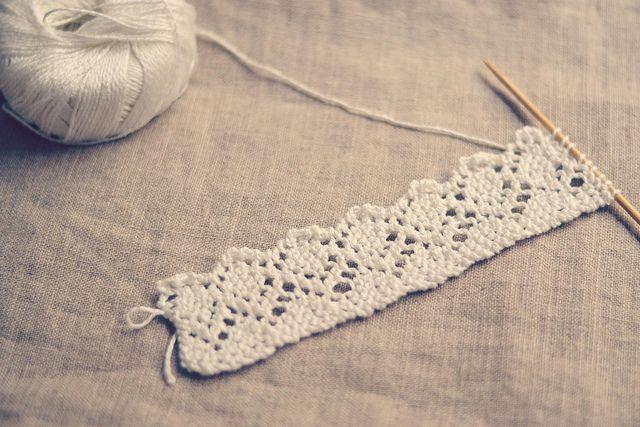 dentelle blanche tricot - L'atelier de vidibio
