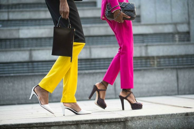 Go bold in bright pants.