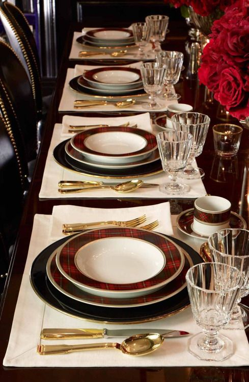 tartan dinnerware. Christmas ... & 161 best Christmas Dinnerware images on Pinterest | Christmas china ...