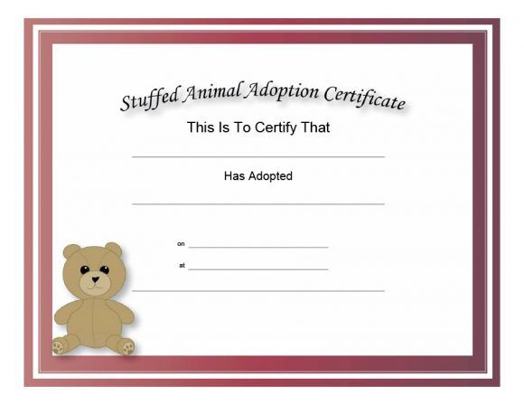 Best Toy Adoption Certificate Template In 2021 Birth Certificate Template Adoption Certificate Pet Adoption Certificate