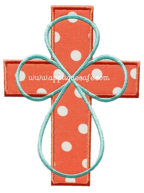 Cross 6 Applique Design   Appliques   Pinterest