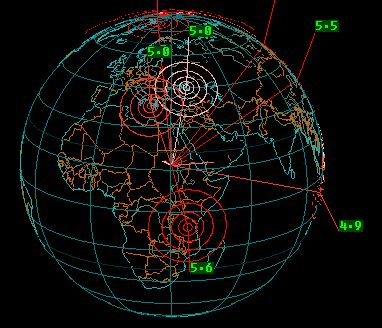 EARTHQUAKE 3D WATCH EARTHQUAKES IN 3D... Zoom and spin your way around the globe while viewing Earthquakes in three dimensions! Control how the Earthquakes and Earth are shown. See at a glance up to seven days of global Earthquake activity with this desktop Earthquake monitor.
