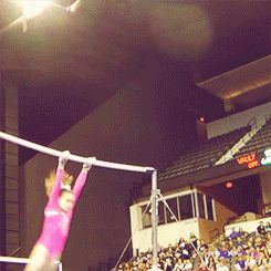 (gif of Norah Flatley's DLO dismount) straightest DLO I have ever seen.