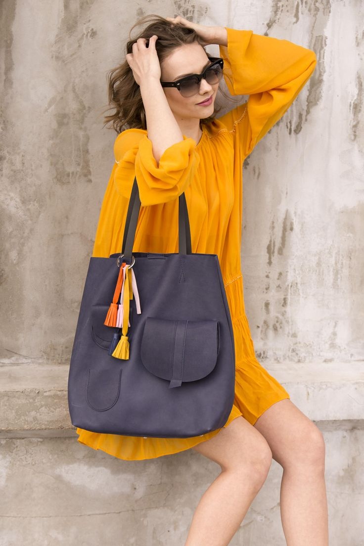 Tote  Tote bag   Tote leather bag   large leather tote bag   big leather tote bag   leather tote bag woman    modern laptop bag   Navy  BLUE