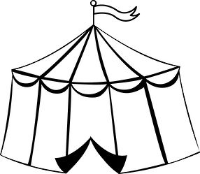 circus tent coloring pages - 17 best images about circo para pintar on pinterest