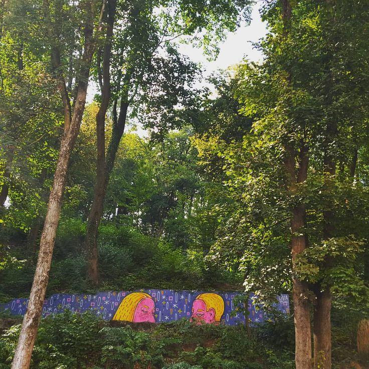 #brasov #liviafalcaru #graffiti #art #streetart #artwork #amural #mural #event #romania #ig_brasov #like #add #withmylove #september #walk #see #view #forest #nature #brasovulmagic #openyoureyes #colors #pink #dupaziduri #sparypaint #memoris #stars...