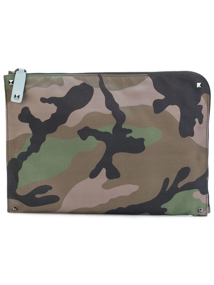 Valentino Valentino Garavani Rockstud Camouflage Laptop Pouch