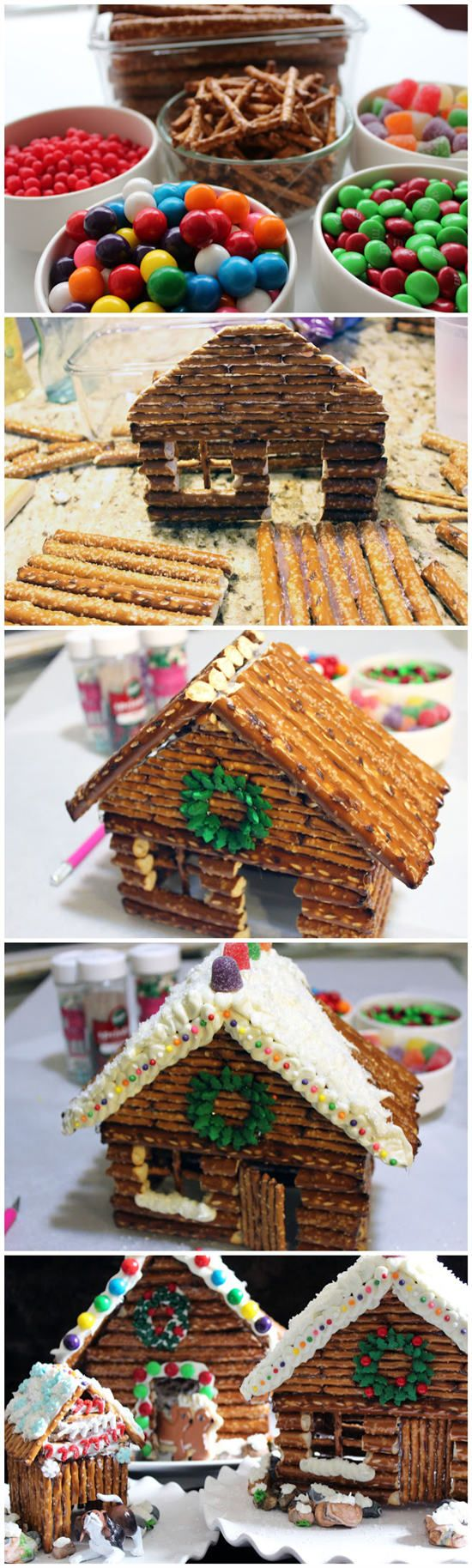 Decorated Pretzel Cabins