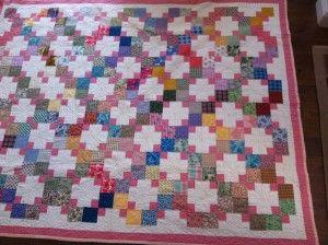 Grandmas Victory 300x224 Grandmas Victory Vintage Scrap Quilt Pattern (Free!) LynBrown downloadable pdf file