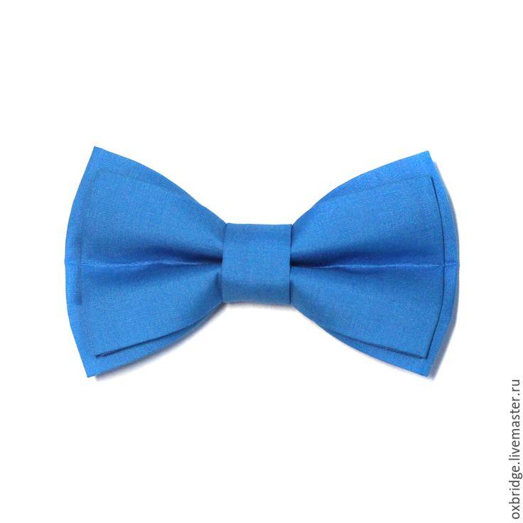 Купить Галстук бабочка ярко-голубого цвета / Бабочка галстук /Бабочка голубая