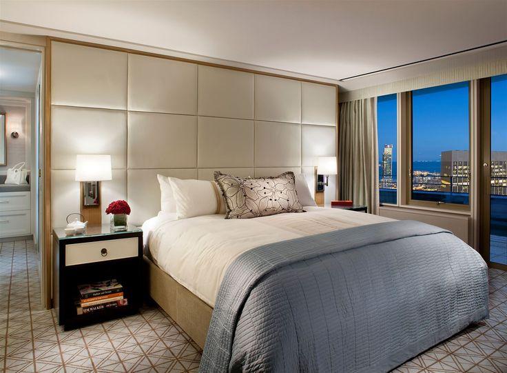 Mandarin Oriental San Francisco, USA. #hotelroom #bedroom #bed #lighting #interior #design #lamps