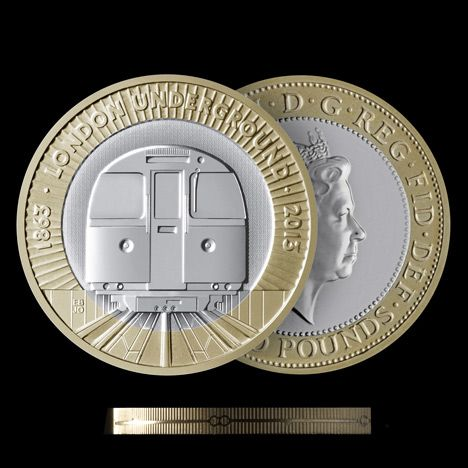 london underground 150th anniversary coin | BarberOsgerby