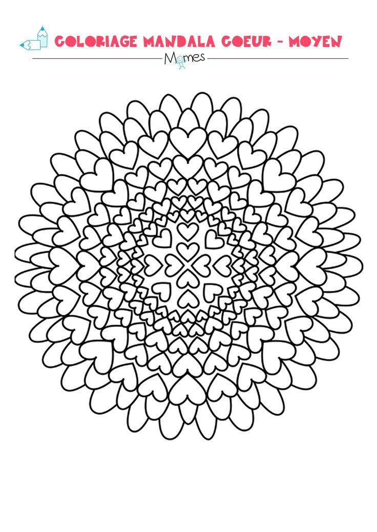 Best 25 mandala coeur ideas on pinterest coloriage coeur coeur doodle and coeur colorier - Colorier mandala ...
