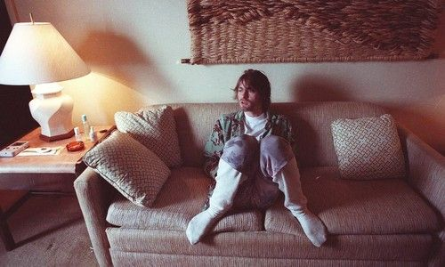 Kurt Cobain Sits In His Hotel Room With The Tv On Beavis