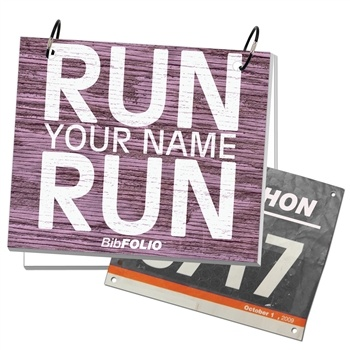 Rustic Wood BibFOLIO - Run Name Run -LT