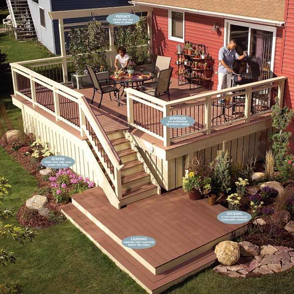 Rebuild An Old Deck With New Decking And Railings | The Family Handyman