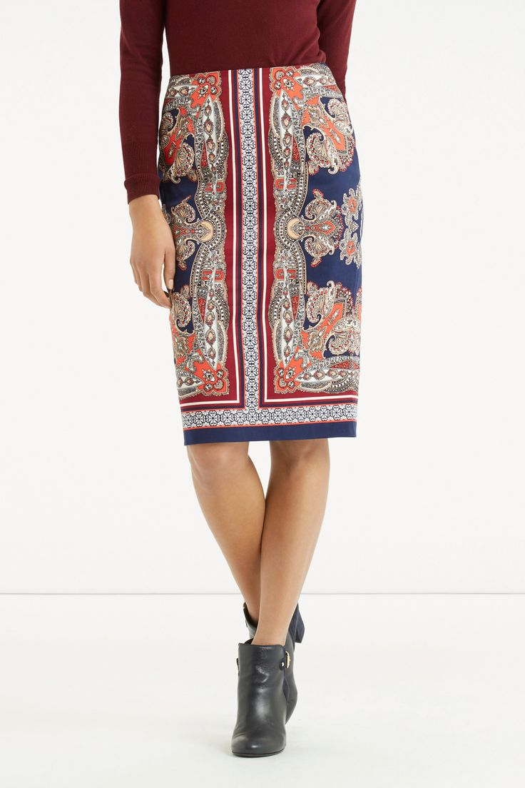 The Pretty Paisley Pencil Skirt. Was £42, NOW £22 - http://www.oasis-stores.com///oasis/fcp-product/5727061