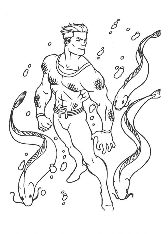 Aquaman Coloring Page 28 Is A From Booklet Your Children Express Their