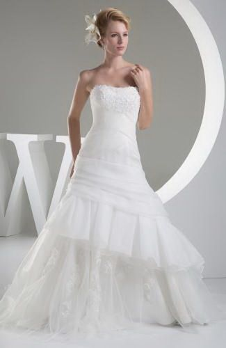 Strapless Organza Mother Of Bride Dresses - Order Link: http://www.thebridalgowns.com/strapless-organza-mother-of-bride-dresses-tbg3762 - SILHOUETTE: A-Line; SLEEVE: Sleeveless; LENGTH: Chapel Train; FABRIC: Organza; EMBELLISHMENTS: Beaded , Tiered , Appliques , Lace , Ruching - Price: 291.79USD