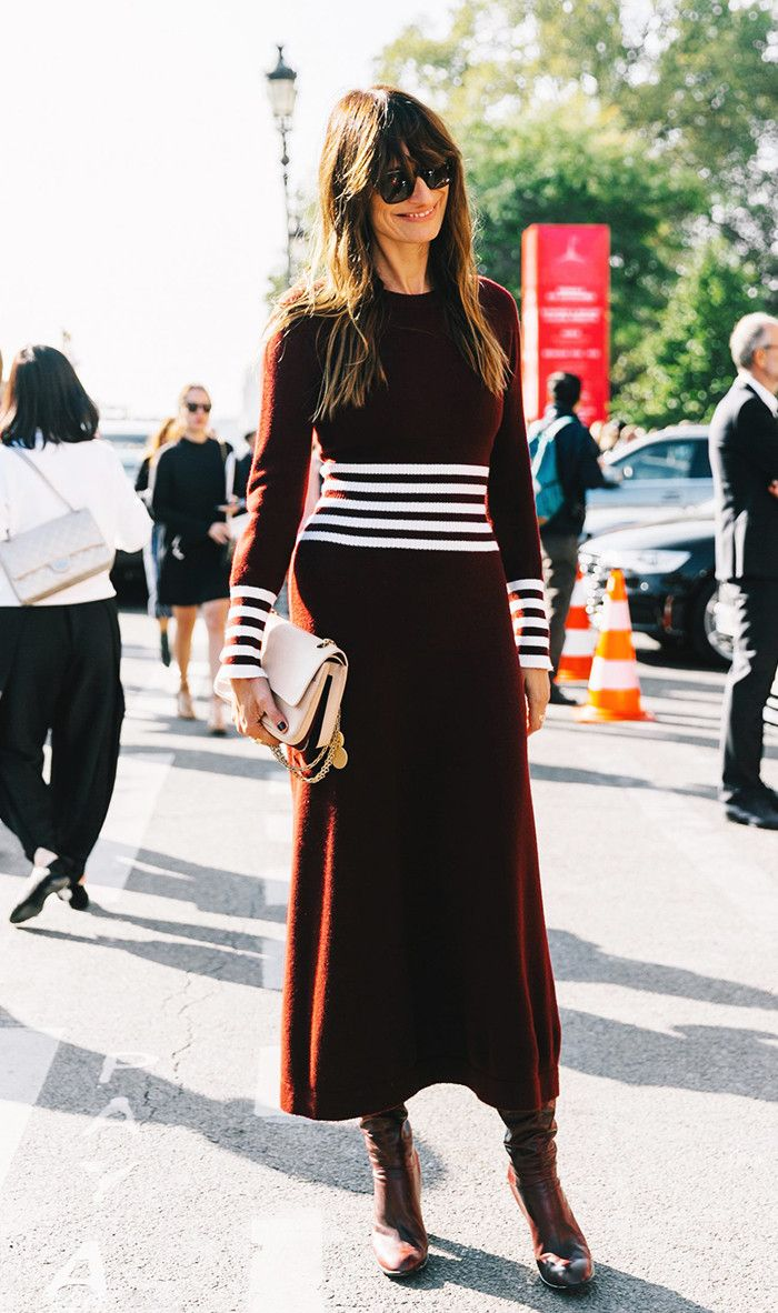 The Most Flattering Ways to Style Your Sweaterdresses via @WhoWhatWear