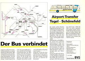 Nach dem Fall der Mauer vereinen sich beide S- und U-Bahnnetze wieder.Mit insgesamt 13 Buslinien werden die Luecken im Nahverkehrsnetz ueberbrueckt. (BVG Plan von 1990)