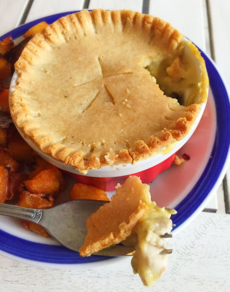 Delicious recipe for dairy free chicken pot pie with grain-free pastry.