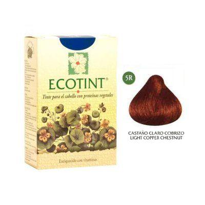 Castaño Claro Cobrizo Tinte para Cabello (5R) 130 ml de Ecotint