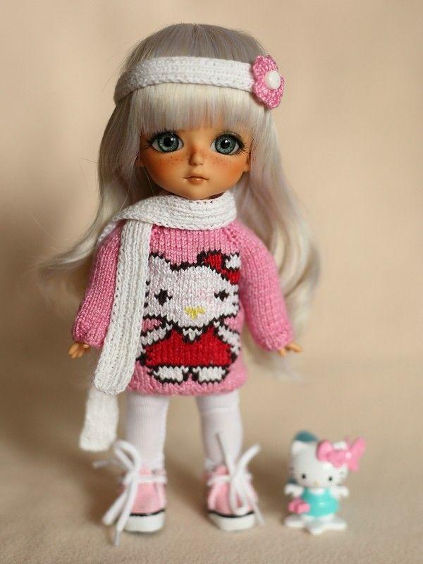 Hello Kitty - комплектик для маленького котенка / Одежда, обувь, аксессуары для шарнирных кукол БЖД, BJD / Бэйбики. Куклы фото. Одежда для кукол