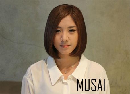 딥모카브라운의 매력♥단발머리 : 서슬비디자이너 MUSAI 뮤사이