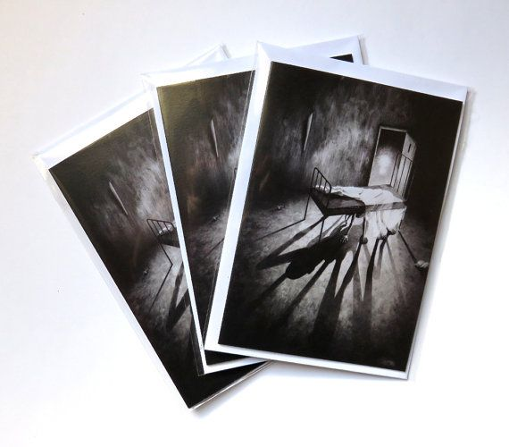 Stephen Under The Bed cards pack of 3  horror by DrawingInDark