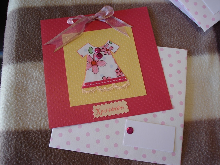 Invitation-card for baby girl
