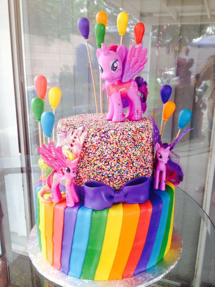 My little pony cake  Emmas 4th Birthday ideas. MLP  Pinterest