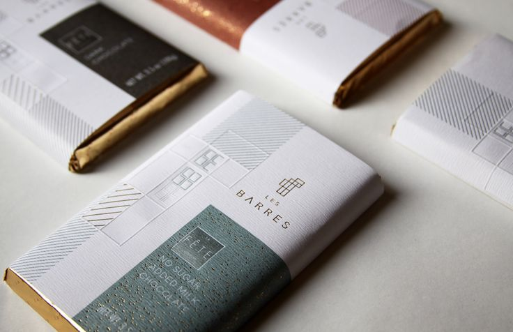 CHILE Rossana Migliaro • La Fête Chocolates Labels for chocolate packaging • Rives Tradition • Hot foil stamping / Embossing / Offset