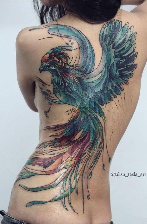 best 25 female back tattoos ideas on pinterest thigh. Black Bedroom Furniture Sets. Home Design Ideas
