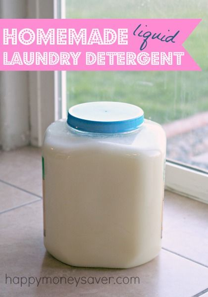 Recipe for liquid laundry detergent. This one here is the best recipe - it only costs $1.47 for up to 100 loads! WHOA! happymoneysaver.com