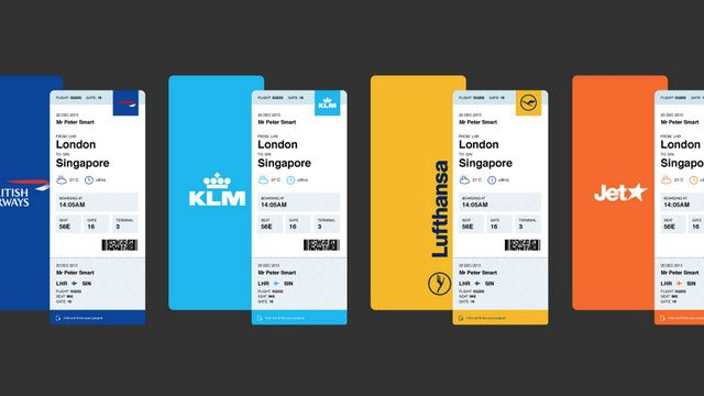 Airlines, Listen Up: Here's the Boarding Pass You Should Be Using | #airline #design #mobile