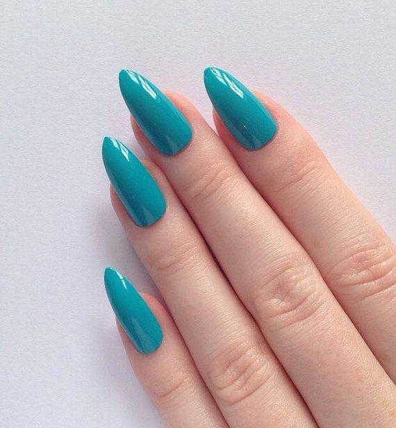 Turquoise Stiletto Nail Art: 1000+ Ideas About Turquoise Acrylic Nails On Pinterest