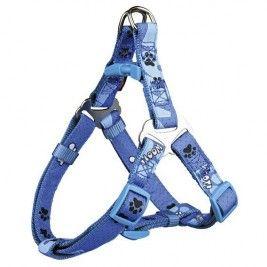Postroj D-Ring Modern Art WOOF S 40-50 cm/15 mm modrý