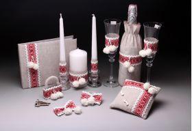Свадебный набор Українське весілля - купить за 1152 грн - цена на Наборы для свадьбы V787-2-43 в VIP-POSUDA.com