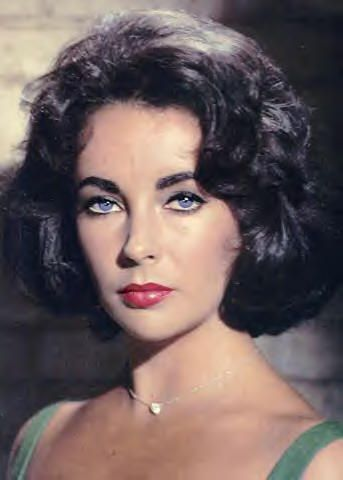 Elizabeth Taylor's beautiful natural violet eyes look amazing with any make up