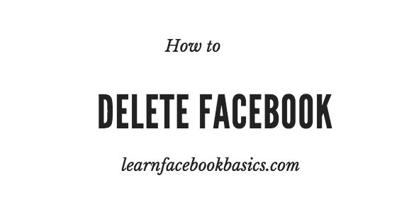 Delete My Account On Facebook Permanently Right Now - Delete Account Link Forever