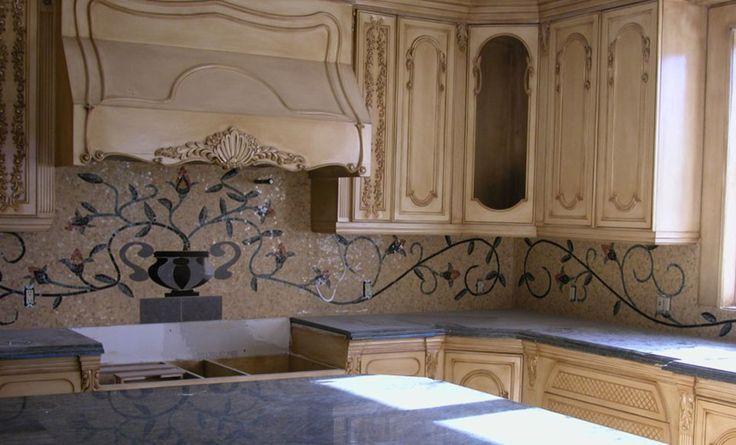 indoor kitchen mosaic backsplash   Tile Mural Creative Arts