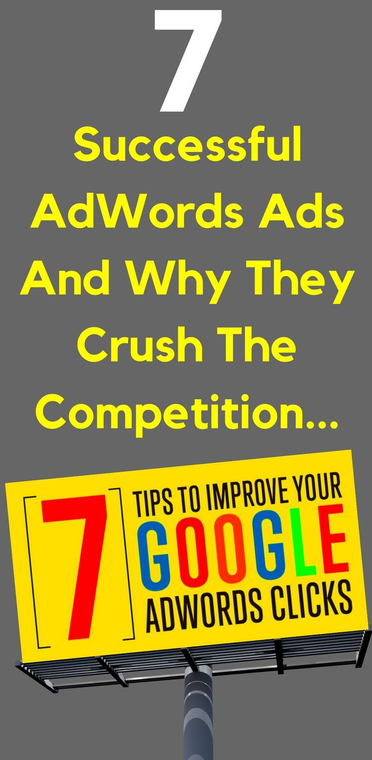 7 Successful AdWords Ads And Why They Crush The Competition  Some businesses are able to create phenomenally #successful AdWords #ads while others fail miserably. Ultimately, success with AdWords comes down to your landing page/website. But the first step on that road to winning at AdWords is to get the #clicks. What does it take to write an #AdWords ad that gets the clicks?