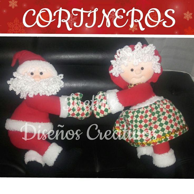 Cortinero sr y sra claus iveth 39 s navidad pinterest for Hacer papa noel grande
