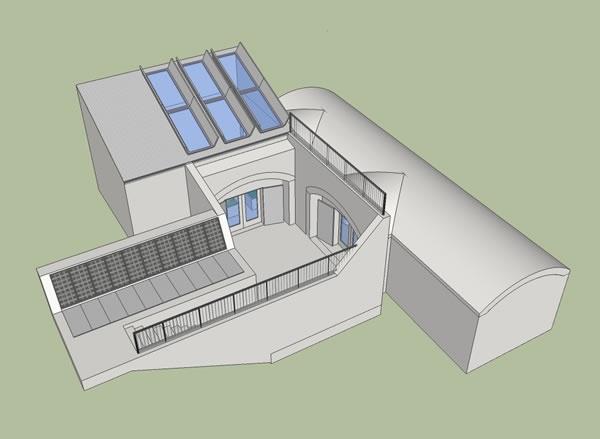 Underground home floor plan