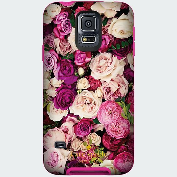 kate spade new york Flexible Hardshell Case for Samsung Galaxy S 5 - Photographic Roses - Verizon Wireless