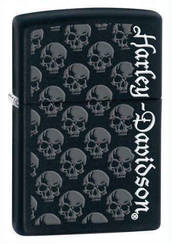 Zippo Lighter Black Matte by Zippo. Save 36 Off!. $17.89. Vertical Harley Davidson with multiple skulls on Black Matte background