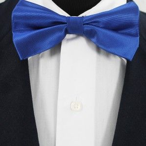 Royal Blue Bow Tie Set / Wedding Bow Tie Set