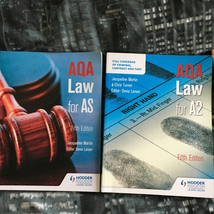 A-Level Law Textbooks For Sale