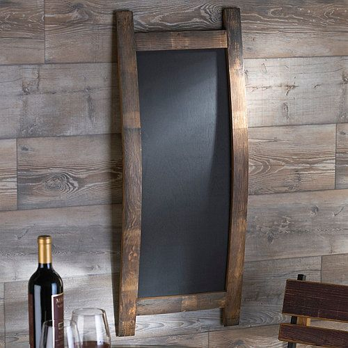 Reclaimed Barrel Stave Chalkboard (Rectangle) - Wine Enthusiast